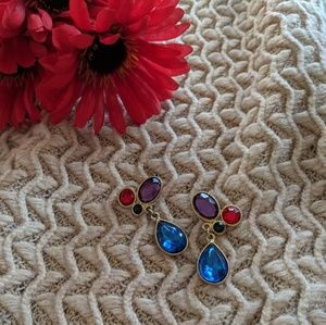 Jewelry - Playful Colorful Jeweled Vintage Earrings